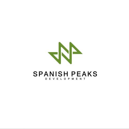 logo concept for spanish peaks