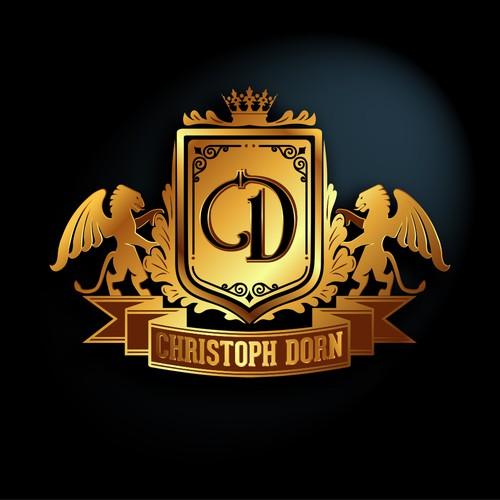 Heraldic stile logo