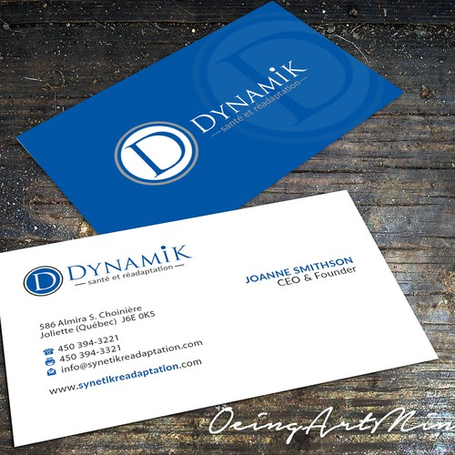 New business cards for a readaptation clinic