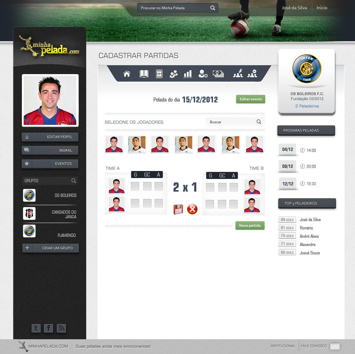 MinhaPelada.com needs a new website design