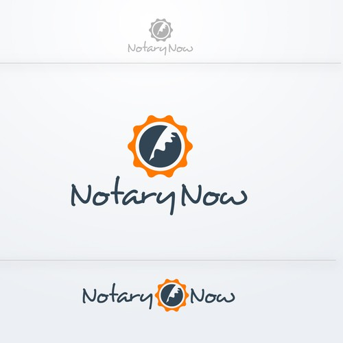 Create a professional logo for NotaryNow mobile application!