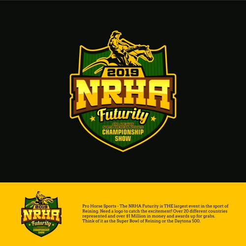 Logo concept for 2019 NRHA Futurity & Adequan North American Affiliate Championship Show