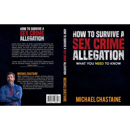 Book Cover for an award winning attorney