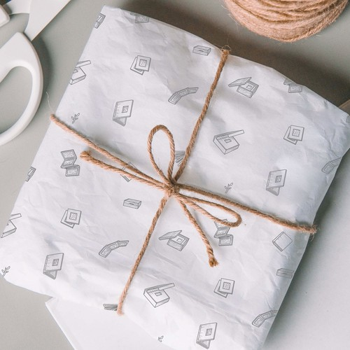 Hand-drawn wrapping paper