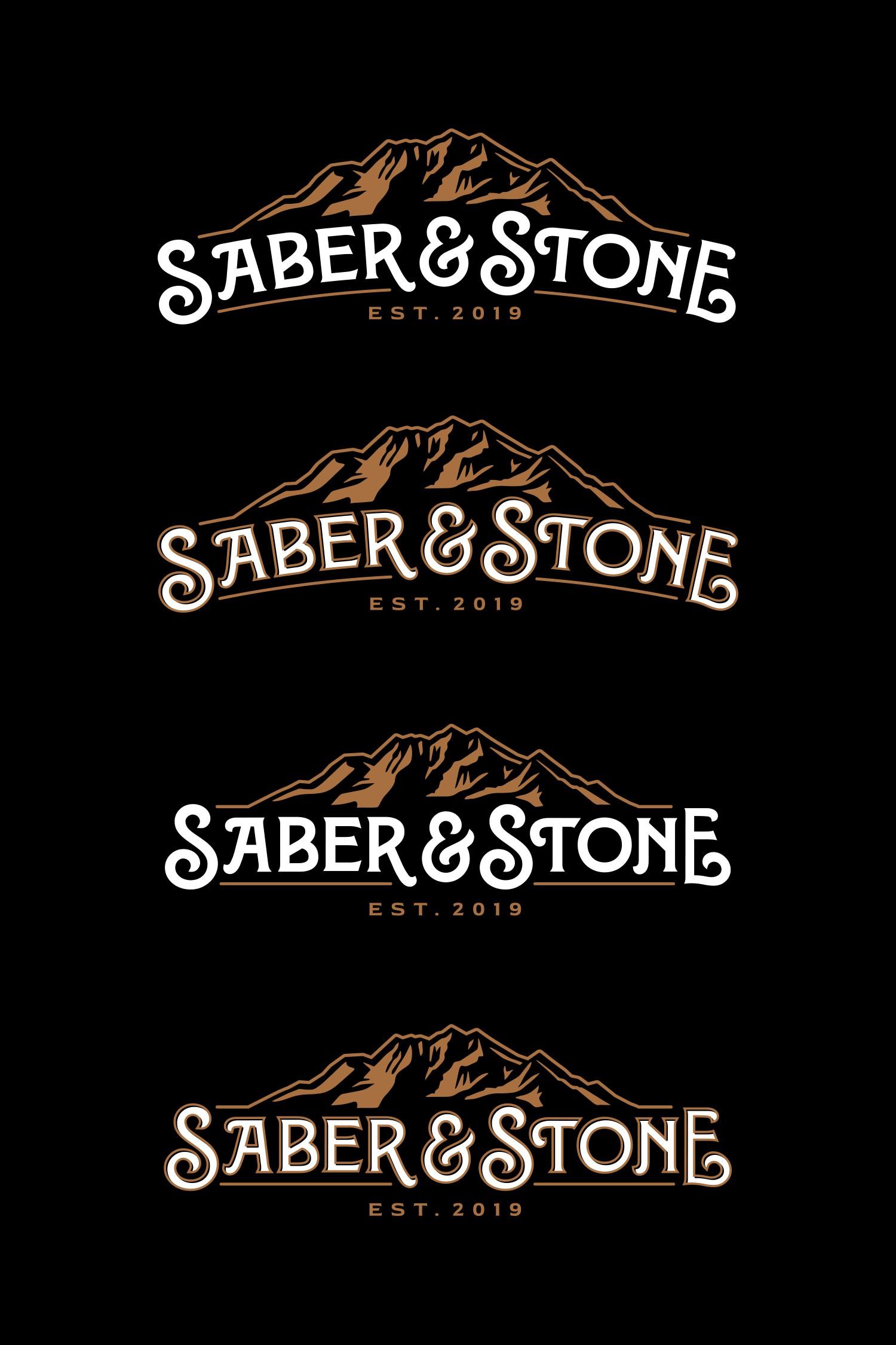 Design a vintage logo for Saber & Stone