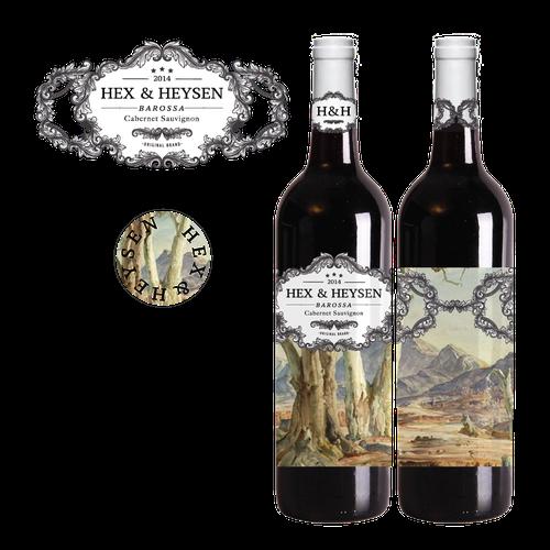 Retro-Hipster Wine Label