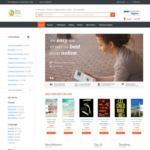 Landing Page for book sales