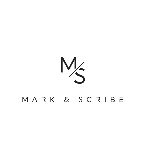 Typographic logo for Mark & Scribe