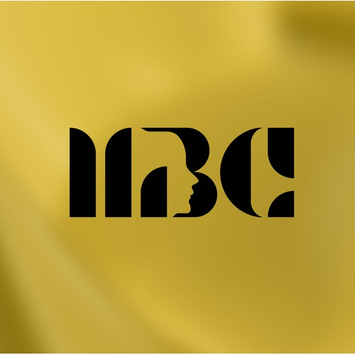 A Bold monogram with Negative Space