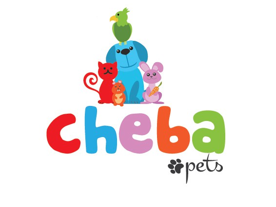 Create a logo, brand and Pet products illustration for Cheba Pets
