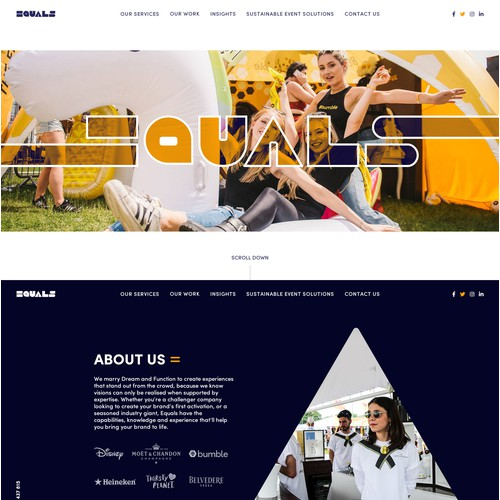 Modern webdesign for events agency