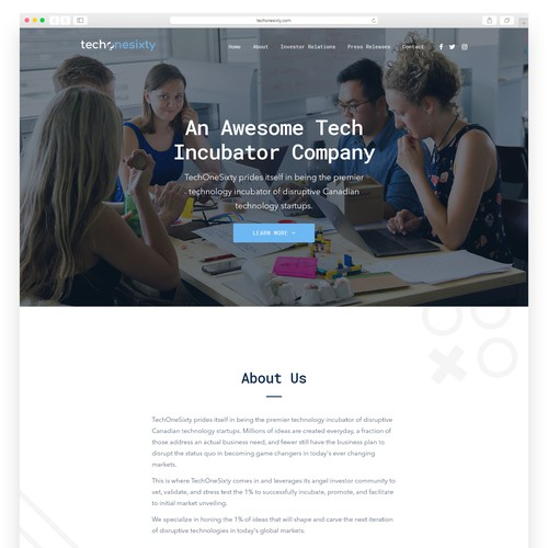 WordPress site design for an Innovative Tech Company