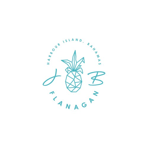 Harbour Island, Bahamas  Wedding Logo