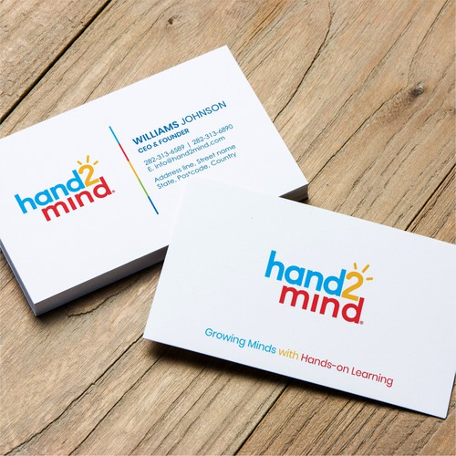 Dynamic business card design