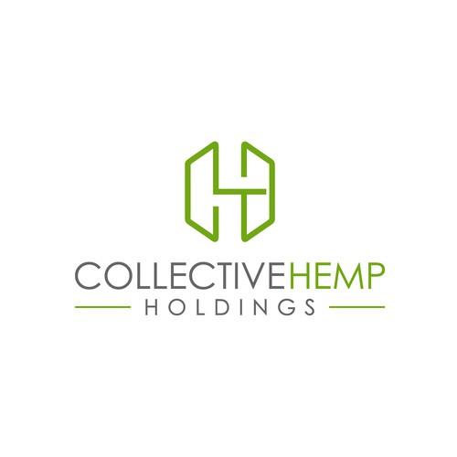 lettermark concept logo for collective hemp