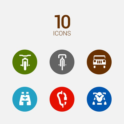 Outdoor activity - Icon set