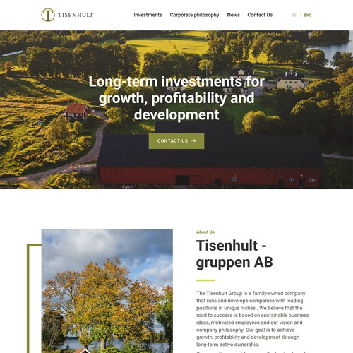 Web Design for Investment Firm