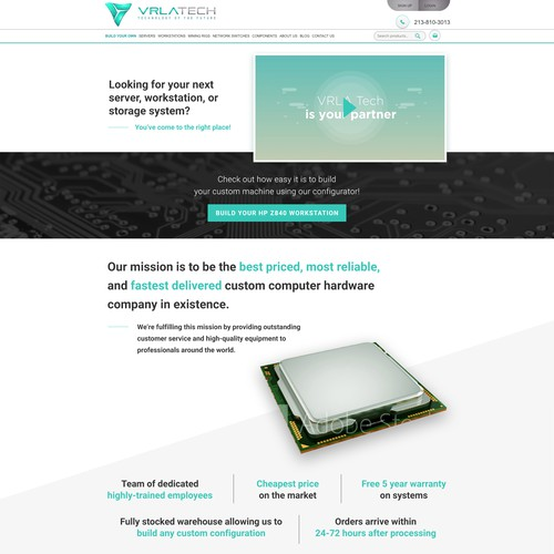 Winner design for VRLA About Us Page