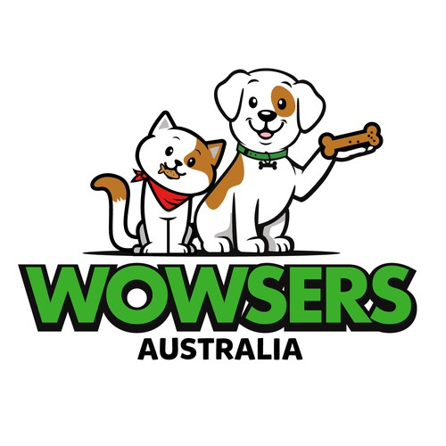 Logo: Wowsers treats. Best for your cute pets