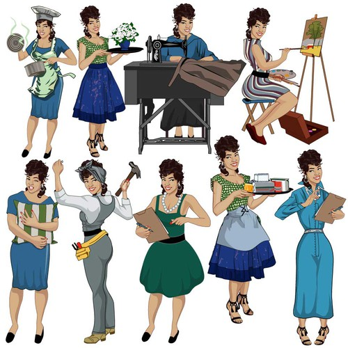 Pin Up Style Character