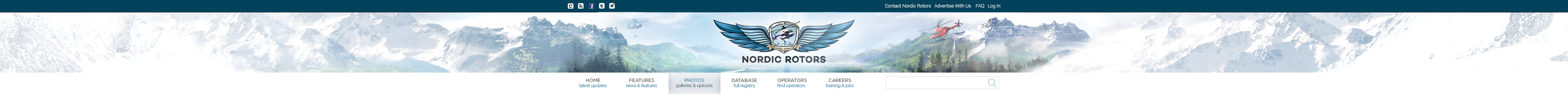Quick brush-up of Nordic Rotors website header