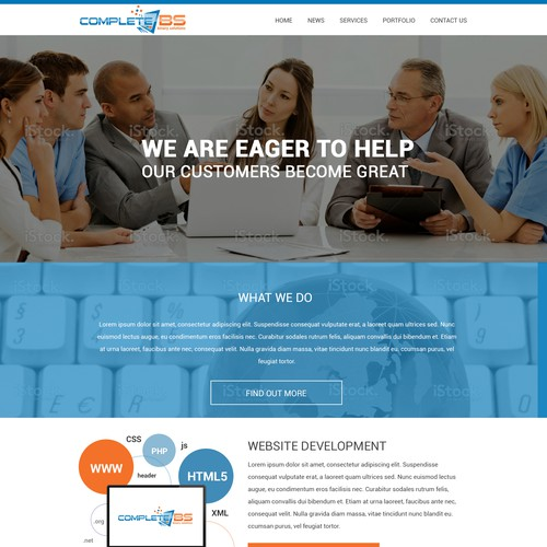 Create a new landing page that is CompleteBS
