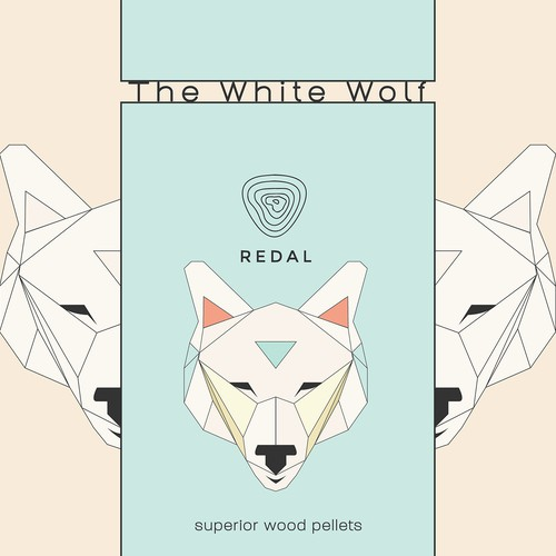 White Wolf illustration for packaging
