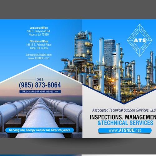 Bi Fold brochure design for ATS