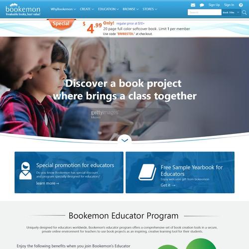 educational landing page