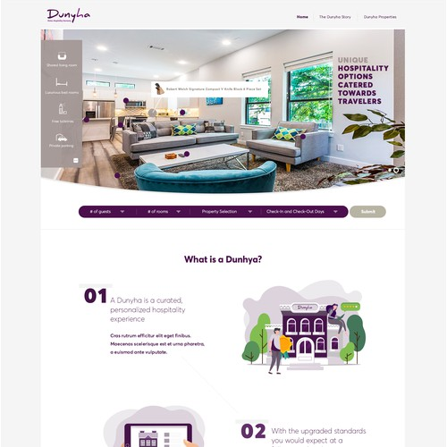 Webdesign for Dunhya