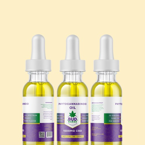 Design an eye-catching modern label for a CBD tincture (ongoing label support needed)