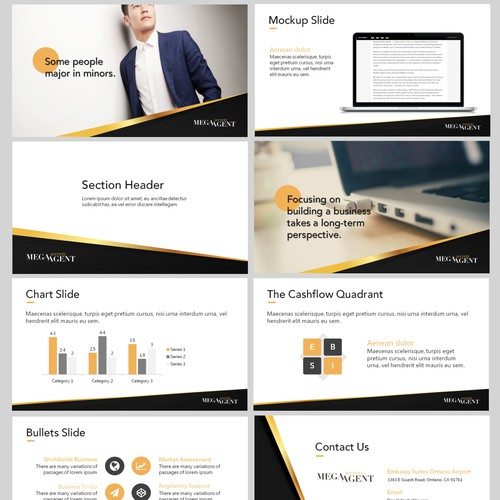 Gold Black Powerpoint Design
