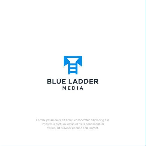Simple Logo Concept for Blue Ladder Media