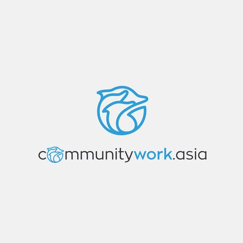 Simple logo for work community