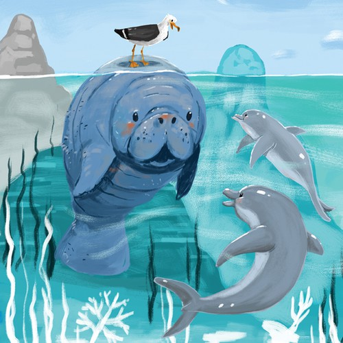 Manatee and friends