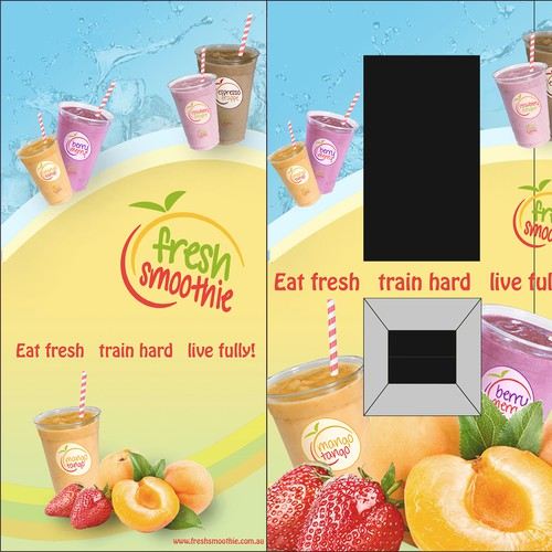 Create an eye-catching design for our smoothie vending machine