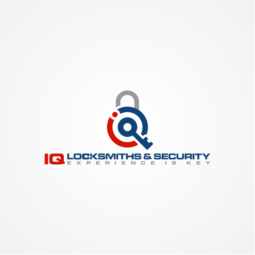 iq locksmith & security logo design