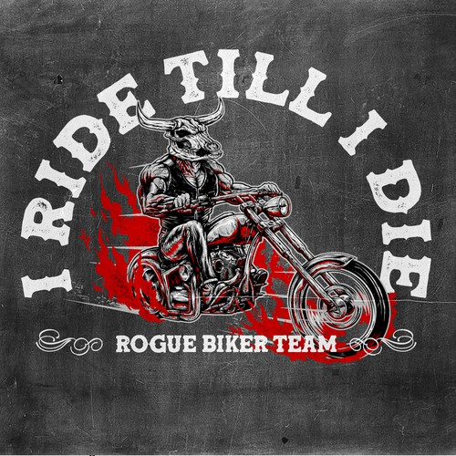 T-shirt design for Rogue Biker Team