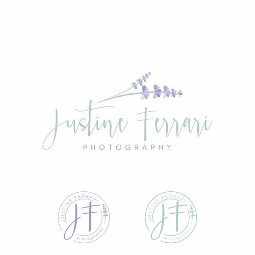 Feminine and delicate logo design for a photographer