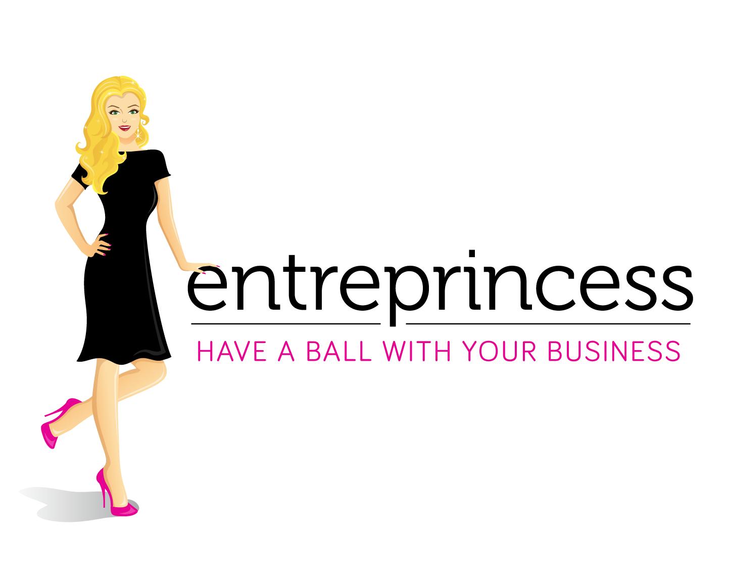 Design a stylish female entrepreneur cartoon illustration for the launch of the Entreprincess brand!
