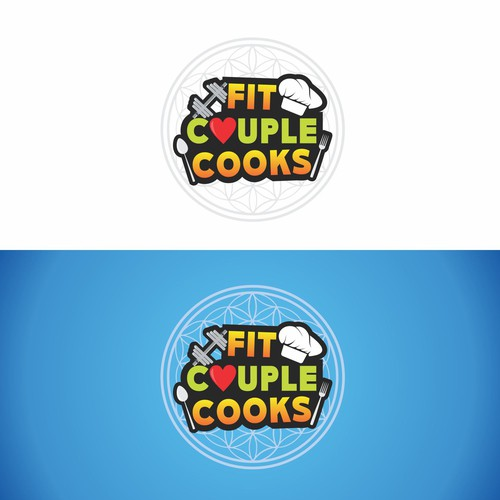 Playful and Fun logo for Fit Couple Cooks