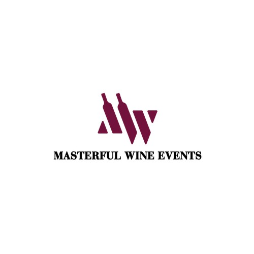 """LOGO DESIGN FOR """"MASTERFUL WINE EVENTS"""""""