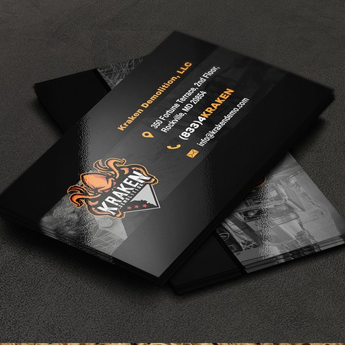 Creative and Unique Business Card for a Demolition Company!