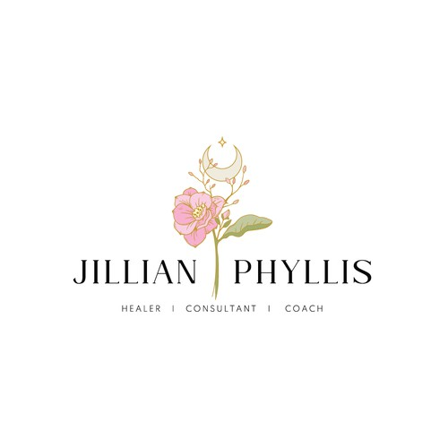 """Illustrated sophisticated and """"in-tune with the natural"""" logo for high-end spiritual coach"""