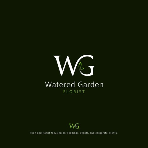 Modern and clean logo design for sophisticated florist
