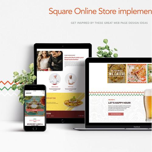 A creative and website design for Restaurant.