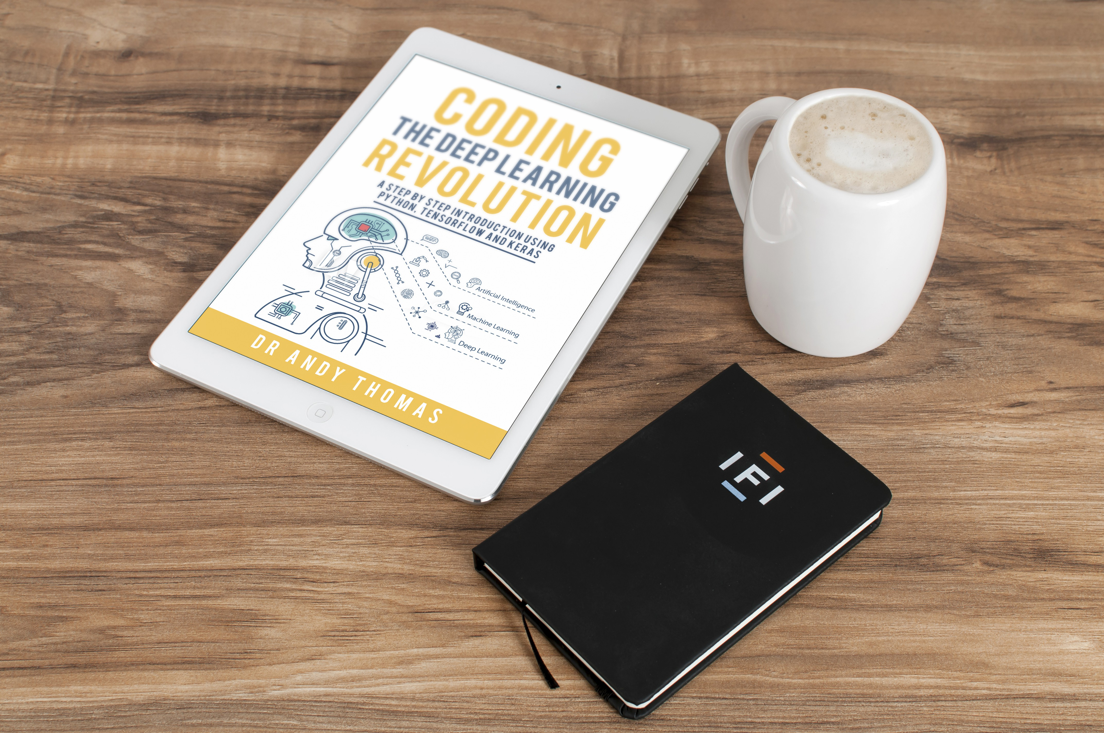 Design a tech-themed eBook cover for a machine learning topic