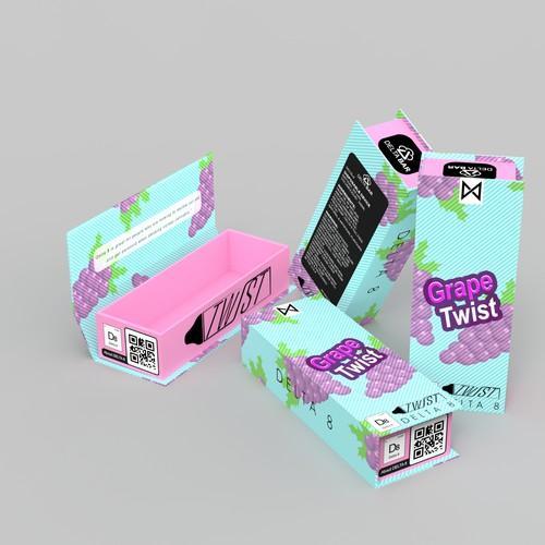vape box grape design