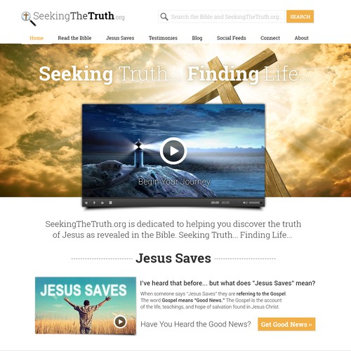 SeekingTheTruth.org Website Redesign to Modern Elegance