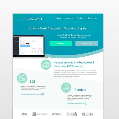 Website design for Flowcast